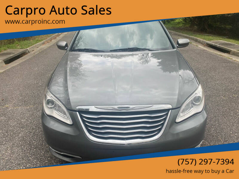 2012 Chrysler 200 for sale at Carpro Auto Sales in Chesapeake VA