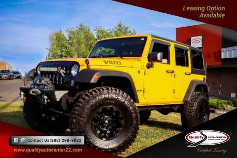 2015 Jeep Wrangler Unlimited for sale at Quality Auto Center in Springfield NJ