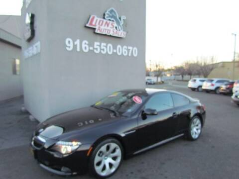 2008 BMW 6 Series for sale at LIONS AUTO SALES in Sacramento CA