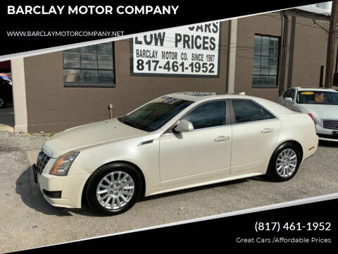 2013 Cadillac CTS for sale at BARCLAY MOTOR COMPANY in Arlington TX