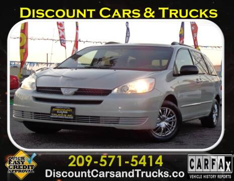 2004 Toyota Sienna for sale at Discount Cars & Trucks in Modesto CA
