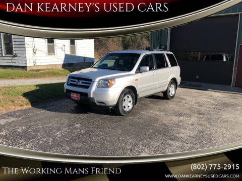 2008 Honda Pilot for sale at DAN KEARNEY'S USED CARS in Center Rutland VT