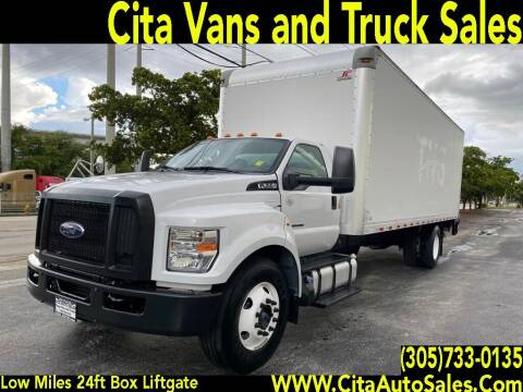 2016 FORD F650 SD 24 FT BOX TRUCK LIFTGATE DIESEL for sale at Cita Auto Sales in Medley FL