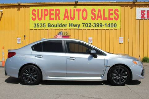 2018 Subaru WRX for sale at Super Auto Sales in Las Vegas NV