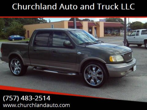 2001 Ford F-150 for sale at Churchland Auto and Truck LLC in Portsmouth VA