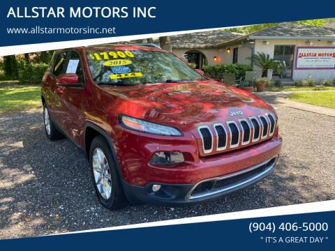 2015 Jeep Cherokee for sale at ALLSTAR MOTORS INC in Middleburg FL