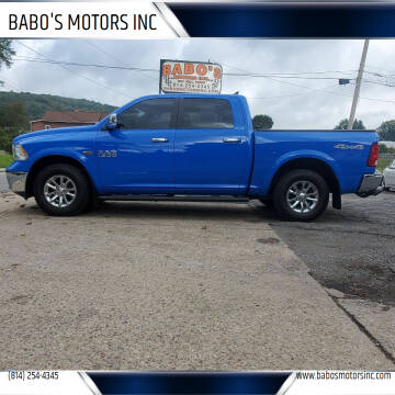 2018 RAM Ram Pickup 1500 for sale at BABO'S MOTORS INC in Johnstown PA