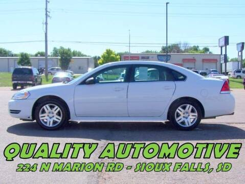 2012 Chevrolet Impala for sale at Quality Automotive in Sioux Falls SD