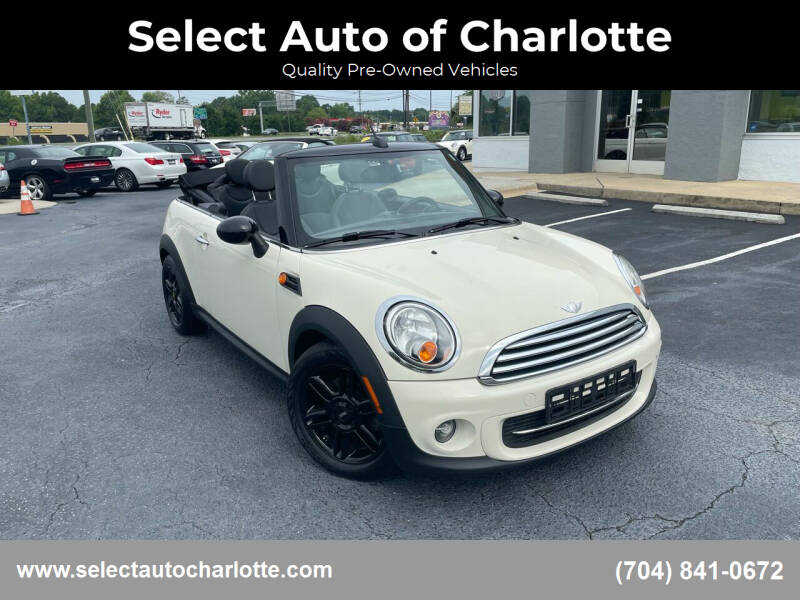 2014 MINI Convertible for sale at Select Auto of Charlotte in Matthews NC