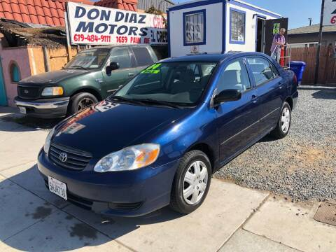 2004 Toyota Corolla for sale at DON DIAZ MOTORS in San Diego CA