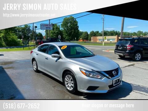 2017 Nissan Altima for sale at JERRY SIMON AUTO SALES in Cambridge NY