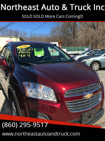 2016 Chevrolet Trax for sale at Northeast Auto & Truck Inc in Marlborough CT