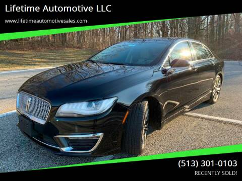 2017 Lincoln MKZ for sale at Lifetime Automotive LLC in Middletown OH