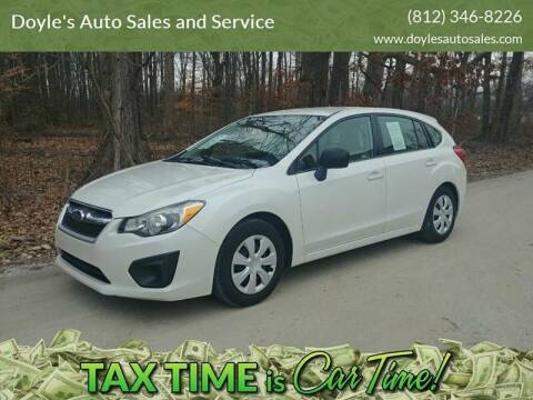 2012 Subaru Impreza for sale at Doyle's Auto Sales and Service in North Vernon IN