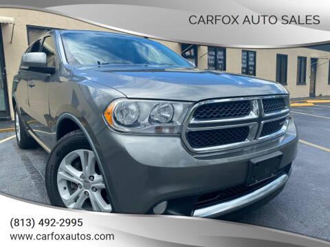 2011 Dodge Durango for sale at Carfox Auto Sales in Tampa FL