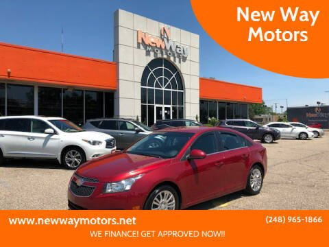 2012 Chevrolet Cruze for sale at New Way Motors in Ferndale MI