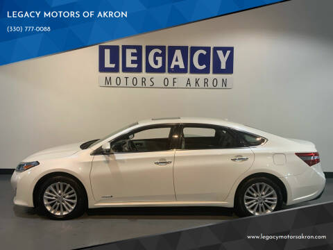 2014 Toyota Avalon Hybrid for sale at LEGACY MOTORS OF AKRON in Akron OH