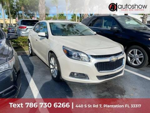 2014 Chevrolet Malibu for sale at AUTOSHOW SALES & SERVICE in Plantation FL