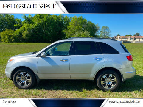 2008 Acura MDX for sale at East Coast Auto Sales llc in Virginia Beach VA