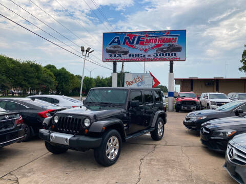 2013 Jeep Wrangler Unlimited for sale at ANF AUTO FINANCE in Houston TX