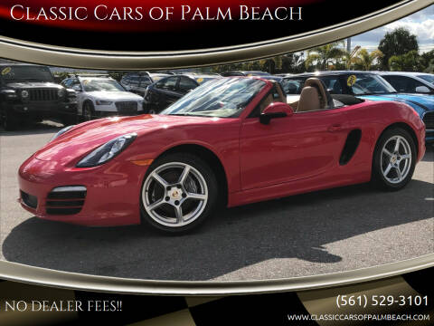 2013 Porsche Boxster for sale at Classic Cars of Palm Beach in Jupiter FL