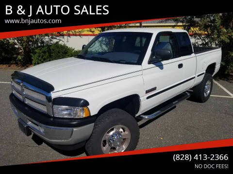 1999 Dodge Ram Pickup 2500 for sale at B & J AUTO SALES in Morganton NC
