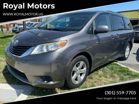 2013 Toyota Sienna for sale at Royal Motors in Hyattsville MD