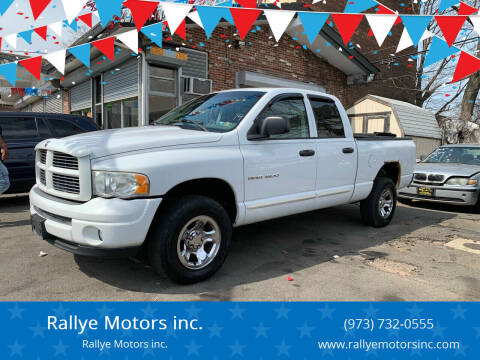 2004 Dodge Ram Pickup 1500 for sale at Rallye  Motors inc. in Newark NJ