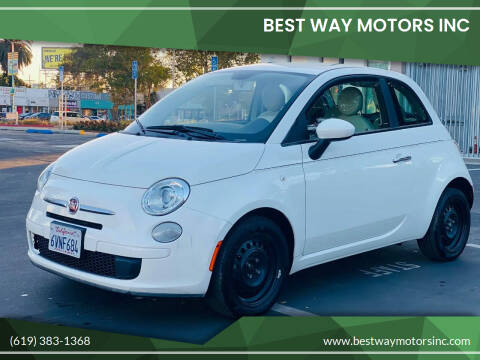 2012 FIAT 500 for sale at BEST WAY MOTORS INC in San Diego CA