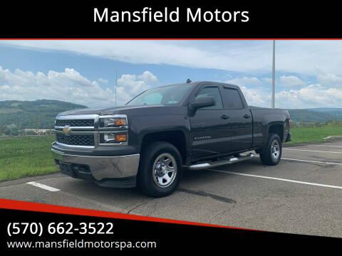 2014 Chevrolet Silverado 1500 for sale at Mansfield Motors in Mansfield PA