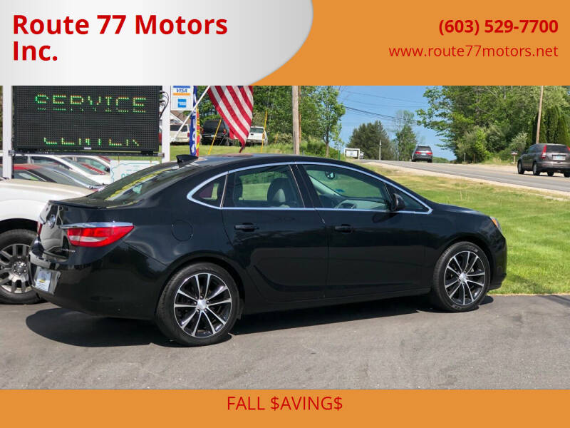 2017 Buick Verano for sale at Route 77 Motors Inc. in Weare NH