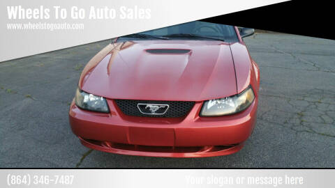 2001 Ford Mustang for sale at Wheels To Go Auto Sales in Greenville SC