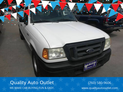 2005 Ford Ranger for sale at Quality Auto Outlet in Vista CA