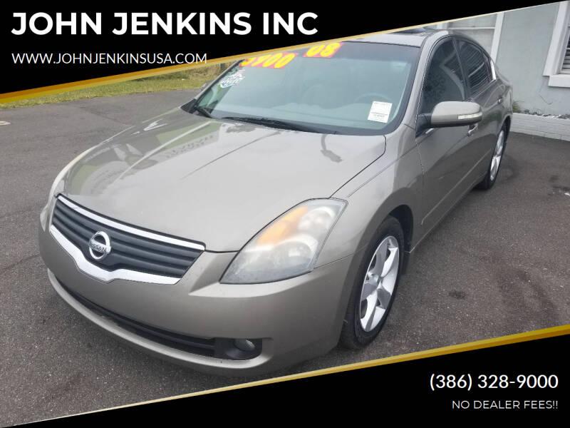 2008 Nissan Altima for sale at JOHN JENKINS INC in Palatka FL