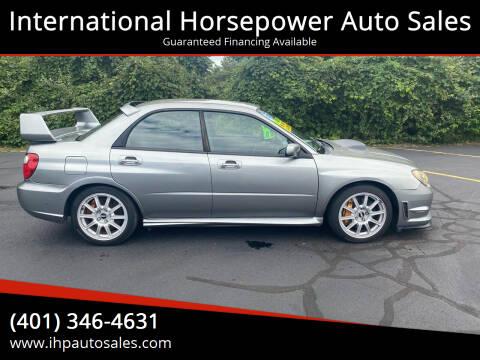 2007 Subaru Impreza for sale at International Horsepower Auto Sales in Warwick RI