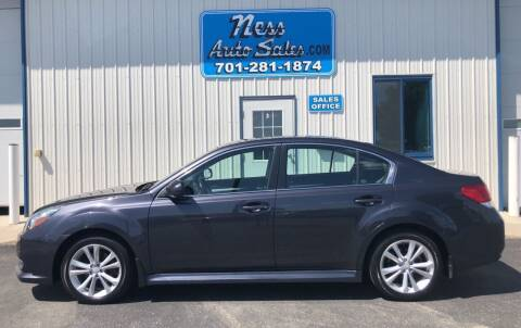 2013 Subaru Legacy for sale at NESS AUTO SALES in West Fargo ND