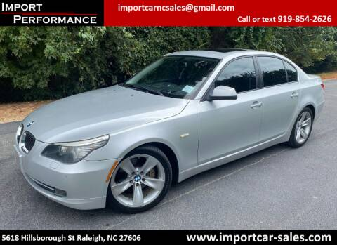 2010 BMW 5 Series for sale at Import Performance Sales in Raleigh NC