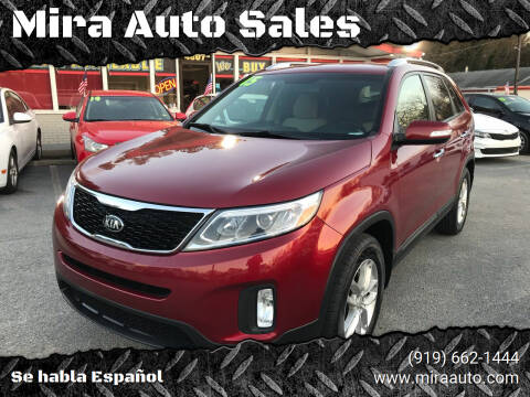 2015 Kia Sorento for sale at Mira Auto Sales in Raleigh NC