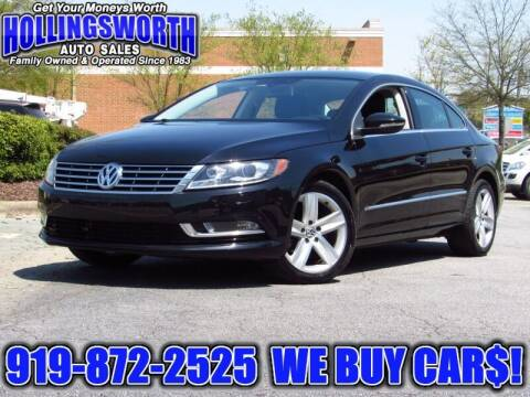 2014 Volkswagen CC for sale at Hollingsworth Auto Sales in Raleigh NC