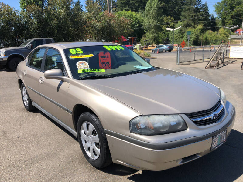 2003 Chevrolet Impala for sale at Freeborn Motors in Lafayette OR