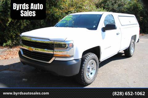 2016 Chevrolet Silverado 1500 for sale at Byrds Auto Sales in Marion NC