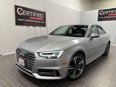 2018 Audi A4 for sale at CERTIFIED AUTOPLEX INC in Dallas TX