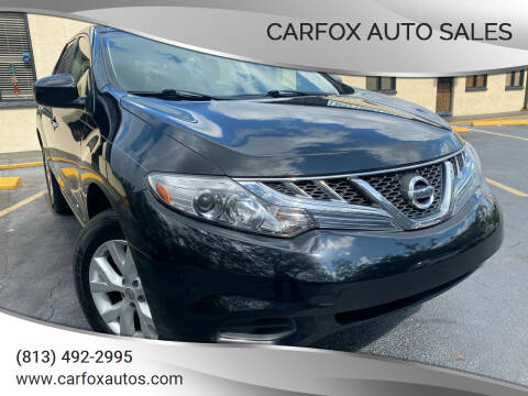 2013 Nissan Murano for sale at Carfox Auto Sales in Tampa FL