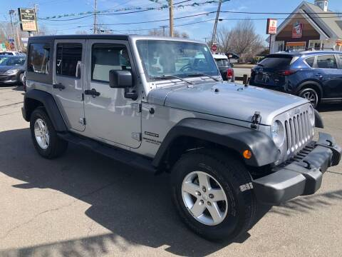 2017 Jeep Wrangler Unlimited for sale at Auto Sales Center Inc in Holyoke MA