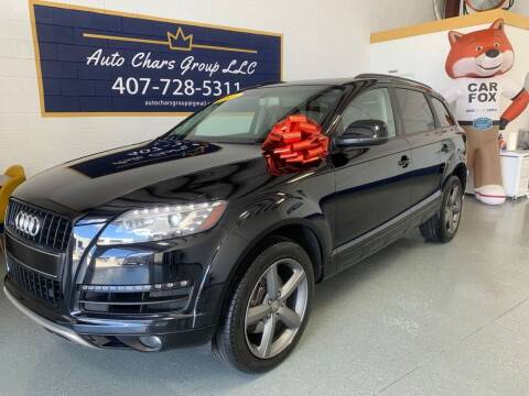 2015 Audi Q7 for sale at Auto Chars Group LLC in Orlando FL