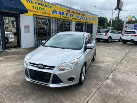 2014 Ford Focus for sale at Sam's Auto Sales in Houston TX