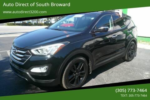 2016 Hyundai Santa Fe Sport for sale at Auto Direct of South Broward in Miramar FL