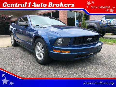 2008 Ford Mustang for sale at Central 1 Auto Brokers in Virginia Beach VA