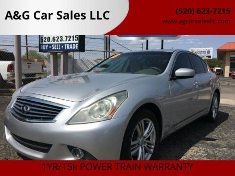 2013 Infiniti G37 Sedan for sale at A&G Car Sales  LLC in Tucson AZ
