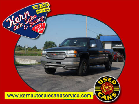 2002 GMC Sierra 2500HD for sale at Kern Auto Sales & Service LLC in Chelsea MI
